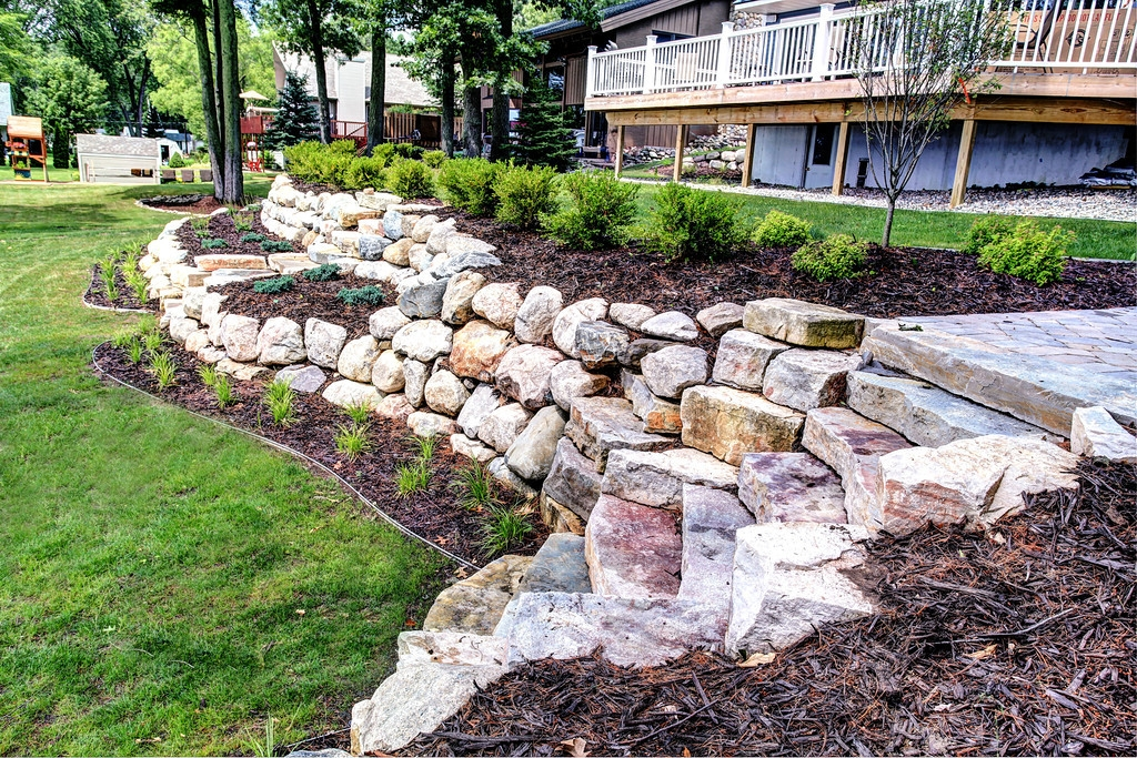 Boulder Retaining Wall Builders and Landscapers in Grand Rapids MI