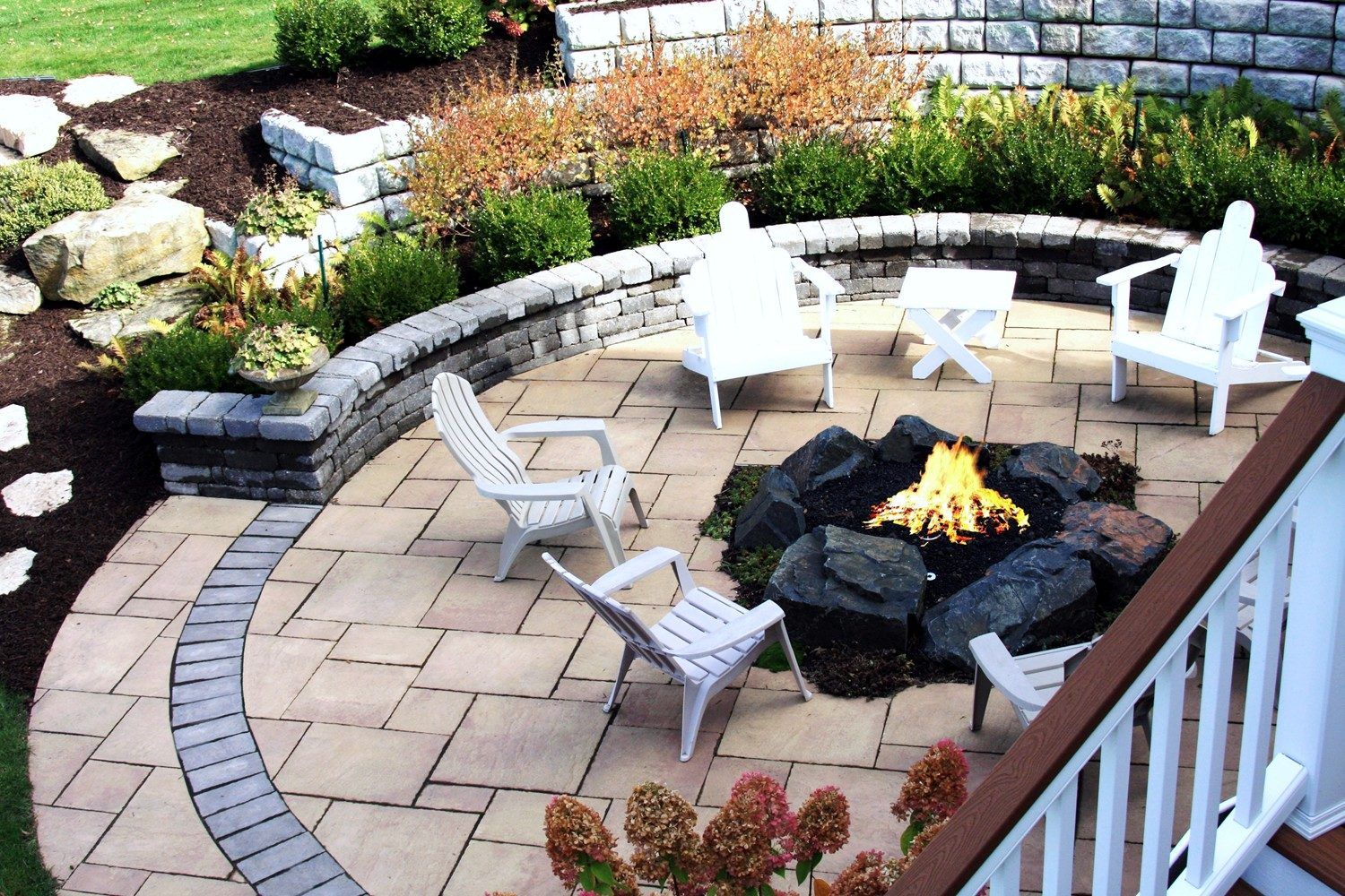Patio Firepit Landscaping Services Grand Rapids MI