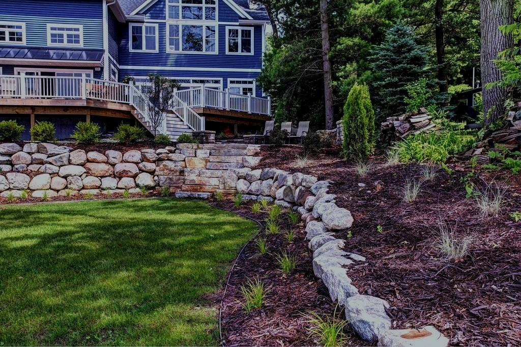 Rock Retaining Wall Builders in Grand Rapids MI - ProMowLandscape.com